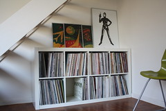 The tidy apartment (charlie snowgarden) Tags: lounge vinyl livingroom rack racking recordcollection