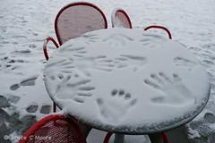 snowday-1030353 (Belltown) Tags: seattle snow garden table chairs redrock handprints osp olympicsculpturepark