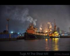 James A Hannah - (Hybrid HDR) (jwvraets) Tags: nikon gimp tugboat hdr luminance steelmill 18105mm d5000 qtpfsgui jamesahannah nighthamilton