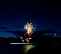 Australia Day Fireworks, 2012. (Canon-Kid) Tags: lake day fireworks australia griffin burley