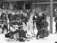Local Rock & Roll Band playing in a Busy Bournemouth Square (Coolcats100) Tags: travel rock magazine blackwhite fuji bass finepix rockroll dorset roll s9500 bournemouth pfb finepixs9500 bournemouthsquare pfbmag pfbmagazine coolcats100