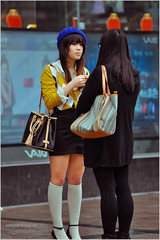 Chinese Street Impression (PP) Tags: guangzhou china street female nikon candid chinese streetphotography guangdong asiangirls d90 tianhe inspiredbylove nikkor80200mmf28 nikond90 stphotographia