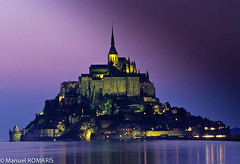 Mont Saint Michel (Manuel ROMARS) Tags: sunset castle abbey twilight monastery saintmichel