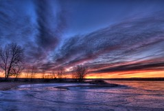 Sunrise at Chatfield Lake (Thad Roan - Bridgepix) Tags: lake sunrise colorado denver chatfield littleton 201201