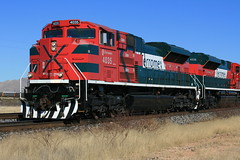 Ferromex SD70ace 4035! (Mark Vogel) Tags: railroad arizona train tren desert eisenbahn railway az arid ferrocarril emd chemindefer ferromex sd70ace sunsetroute