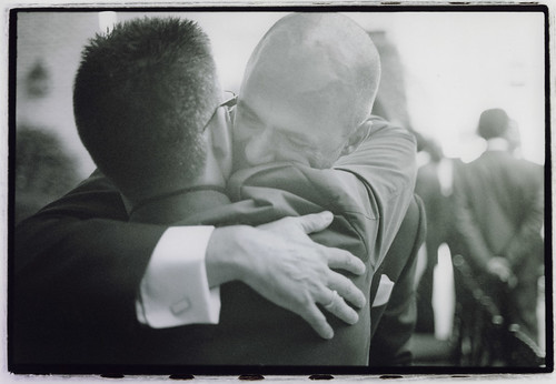 Groom and friend - wedding photographer Edward Olive