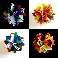 Rose de Sahara and Blinicos (Aneta_a) Tags: collage origami planar kawamura modularorigami kusudama miyukikawamura tungkenlam icosahedralsymmetry simplepaper