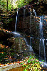 Bad Branch Falls (John Cothron) Tags: longexposure autumn winter usa lake cold fall ice nature water leaves rock creek forest 35mm canon river georgia landscape morninglight waterfall stream outdoor dam sunny reservoir environment flowing ze protected freshwater eveningstar lowwaterlevel rabuncounty lakemont chattahoocheeoconeenationalforest distagont235 badbranch badbranchfalls johncothron 5dmkii lakeseed cothronphotography carlzeissdistagont235 nacoocheedam
