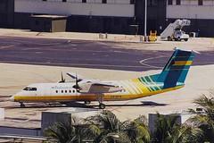 C6-BFN 2 deHavilland Canada DHC Dash 8-301 Bahamas Air MIA 23APR00 (Ken Fielding) Tags: airplane aircraft turboprop bahamasair dehavillandcanada propliner jetprop dash8301 c6bfn