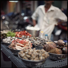see sea food (beetabonk) Tags: 120 6x6 mediumformat square vietnam saigon hasselblad500cm fujipro400h carlzeisstplanar2880cf vnsghb80400h0212010