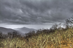 Dry Winter (konrad_photography) Tags: blue winter mountains clouds virginia ridge roanoke va parkway hdr