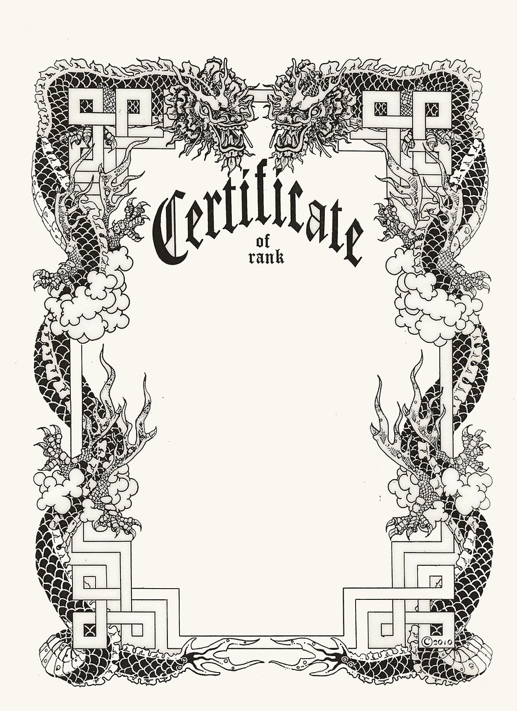 The world 39 s most recently posted photos by mastermosqueda for Black belt certificate template