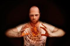 I am the God of Hellfire and I bring you... (James Warwood) Tags: portrait selfportrait fire nikon glow evil flame burn float cs5 d5000