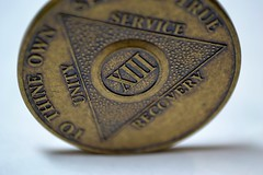 Unity, Service, Recovery (MTSOfan) Tags: macro coin triangle unity service sobriety token 13 addiction recovery thirteen alcoholicsanonymous xiii