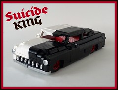 '50 Merc...Suicide King (Lino M) Tags: red blackandwhite white playing black game cards king lego mercury suicide card chopped custom build 50 sled lead challenge lino 1950 lugnuts merc leadsled 52pickup