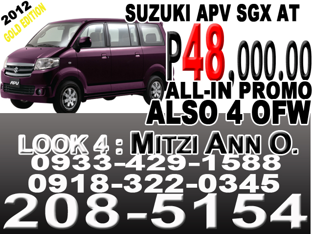 suzuki apv SGX at 2012