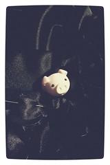 Day 79, Satin Piggie. 1o365d project. (Gemma Geluz - http://gemmageluz.etsy.com) Tags: sewing procrastination vignette piggie sewingproject blacksatin fabricroses oneobject365daysproject japaneseeraser flickrandroidapp:filter=none galaxys3