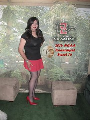 Go Aztecs!!! (Veronica Mendes (formerly Toni Richards)) Tags: red black cute sexy classic tv high long pumps lashes dress transformation legs cd adorable makeup mini tights skirt crossdressing veronica tgirl transgender wig transvestite heels hosiery makeover ecstasy lipstick euphoria lovely stiletto mendes transgendered miniskirt pantyhose crossdresser ts tg stilettos sheer minidress mtf travesti pointytoe transgirl dressskirt transwoman veronicamendes