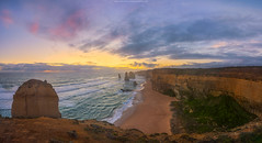 Colourful 12 Apostles (Attakorn_Bk) Tags: ocean road travel sunset panorama rock stone landscape outdoors photography cloudy great australia melbourne victoria tourist coastal poet destination 12 campbell twelve apostles