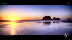 Eternal World (tomraven) Tags: sunset sky reflection beach island bay rocks pentax silhouettes k50 wallisland tomraven aravenimage q22016