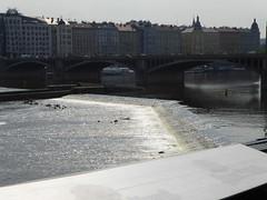 Moldau Embankment (m_artijn) Tags: bridge building backlight dancing prague cz cascade embankment moldau