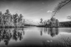 Peaceful (1 of 1) (desouto) Tags: sky snow nature water clouds stream stones lakes ponds hdr
