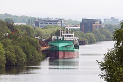 'Arklow Vale' Irwell park wharf 17th May 2016 (John Eyres) Tags: park new bridge manchester major canal is trapped ship lift being failure vale deck upper wharf barton had collapsed arklow irwell the constructed downstream reaches emr whereby 170516