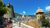 Footpath up to the Prince's Palace of Monaco (travelmag.com) Tags: sea sky mountains castle port mediterranean monaco walls footpath princespalace