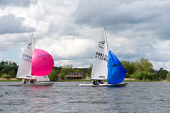 Spinnakers (Claire Young) Tags: wales spring may sailingboat 2016 llangorselake