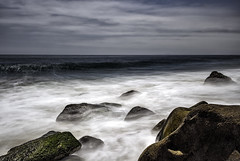Just Me And The Moody Sea 2 (Wilkof Photography) Tags: ocean california ca longexposure light shadow sea summer sky seascape abstract beach nature wet water overgrown skyline contrast rural canon lens landscape outside coast countryside seaside sand rocks surf waves afternoon waterfront natural cloudy cove tide horizon rustic perspective scenic surreal windy overcast roadtrip boulder malibu pch le nd land inlet serene hazy polarizer milky cloudcover beachfront isolated daytrip cpl vantage 18mm pacificcoasthighway pointmugu oceanfront topography oceanscape neutraldensity 18135mm 10stop nd1000 canont4i wilkofphotography