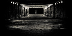 the tunnel (karl.wagner.photography) Tags: urban bw architecture dark blackwhite fear tunnel creepy hallesaale top502011 artgraphytop302011