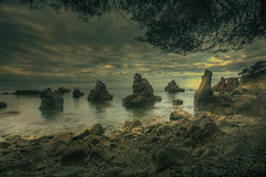 A diferent world (christian&alicia) Tags: sea costa beach de mar nikon rocks mediterranean sigma 1020 brava hdr cala lloret roques mediterrani d90 trons frares christianalicia