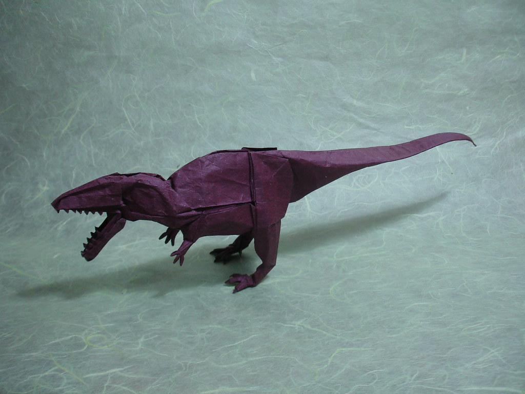 The worlds best photos of giganotosaurus and origami flickr shukikato tags paper video origami dinosaur fold folding jeuxipadfo Choice Image