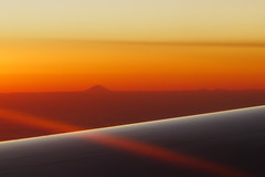Return to Japan (/\ltus) Tags: sunset japan lumix panasonic mtfuji unitedairlines lx5 dmclx5