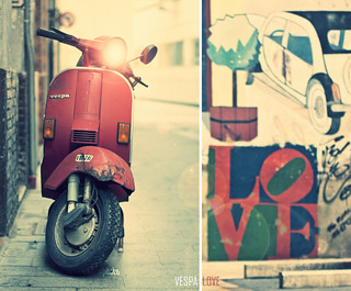 vespa (diptych) love