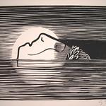 """<b>Death-head (Totenhaupt)</b><br/> Gerhard Marcks (1889-1981) """"Death-head (Totenhaupt)"""" Woodcut, n.d. LFAC #2004:07:10<a href=""""http://farm8.static.flickr.com/7012/6438622465_814beaa88e_o.jpg"""" title=""""High res"""">∝</a>"""