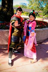 Mulan and Shang (abelle2) Tags: epcot princess disney disneyworld wdw waltdisneyworld shang mulan disneyprincess futureworld lishang characterspot