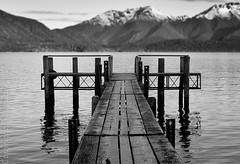 Te Anau wharf 3 (Erik Norder) Tags: newzealand blackandwhite bw sony wharf nz sonyalpha550 eriknorder milfordsony550newzealand eriknorderphotography