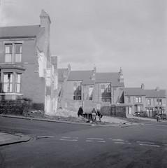 Newcastle West End demolition (Tyne & Wear Archives & Museums) Tags: blackandwhite newcastle children community terrace destruction bricks hill ruin junction nostalgic 1970s decline rubble woebegone tynesideflats