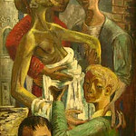 "<b>Deposition (Descent from the Cross)</b><br/> Fridtjof Schroder (1917-1990) ""Deposition (Descent from the Cross)"" Oil, 1946 LFAC #124<a href=""//farm8.static.flickr.com/7012/6466327113_3b11d09221_o.jpg"" title=""High res"">∝</a>"