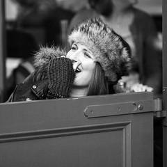laughing girl (backroom.angel) Tags: street square mono scotland blackwhite edinburgh innamoramento