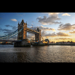 Tower Bridge (geirkristiansen.net.) Tags: uk sunset england london thames towerbridge river sigma wideangle 1224mm sigma1224mmf4556 flickrstruereflection1 masterclasselite