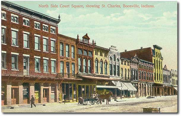 North side of court house square, Boonville, Indiana