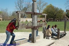 20070408-012.jpg (ctmorgan) Tags: stocks colonialwilliamsburg pillory whippingpost