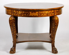 55. Marquetry Inlaid Parlor Table