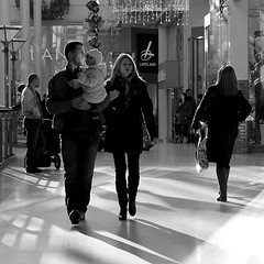 Shadows (canonsnapper) Tags: shadow blackandwhite monochrome candid streetphotography shoppingcentre monotone bandw lakeland watford gf1 harlequincentre lumixgf1 panasonicgf1