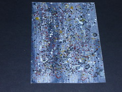 1-31/10/11 Granite TADA365 No:403 (Helen Derici) Tags: black paper random brush wash page granite block effect gesso combination applied spattering tapping thicknesses achieve yellowochre burntsienna paintingtechniques