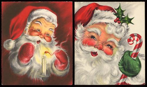 vintage santa claus christmas cards - Santa Claus Christmas Cards