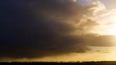 ying yang (Harm Weitering) Tags: sky sun netherlands rain clouds landscape nikon nederland wolken sigma lucht zon regen landschap witteveen d5000