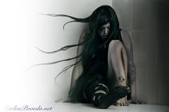 Alone (Carlos Poveda Fotografia) Tags: girl dark dawn crazy alone fear gothic hide gotico